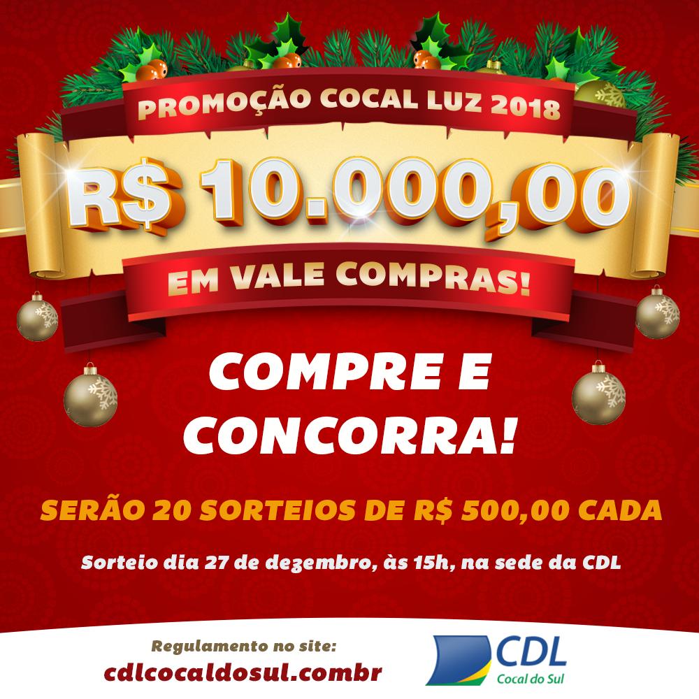 Promoção Cocal Luz 2018